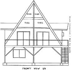 Proportion scale an a frame house blueprint a frame house blueprint image malvernweather Image collections